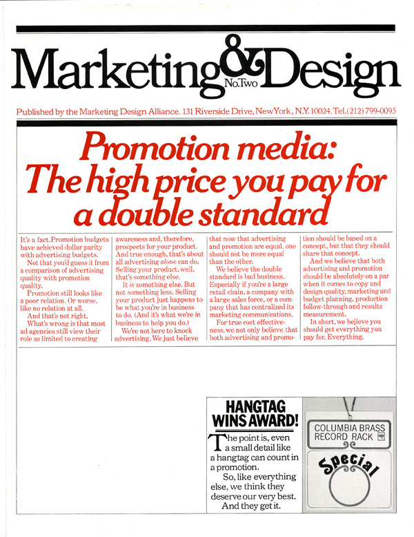 marketing design alliance promotion brochure